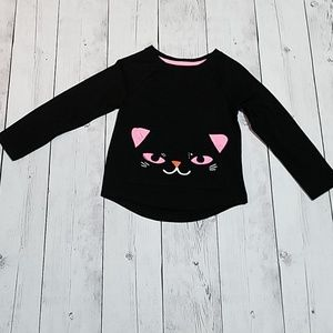 Halloween Black Cat top with front pouch!